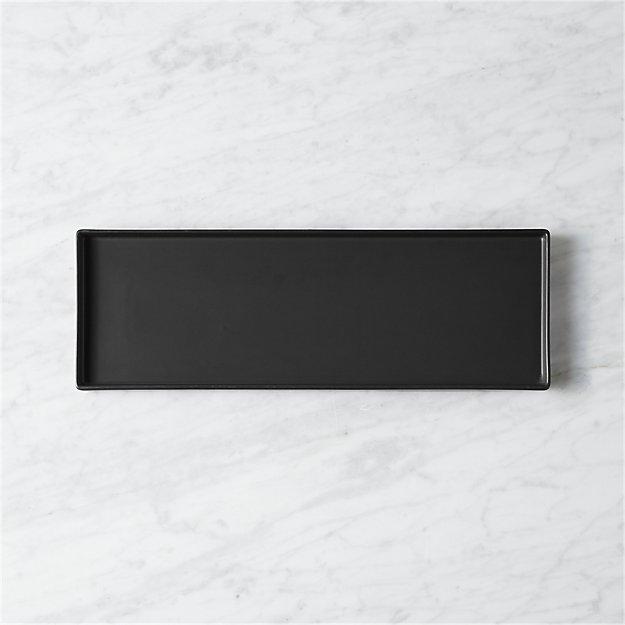bento matte black rectangular platter