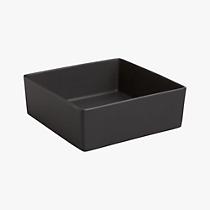 bento matte black square bowl