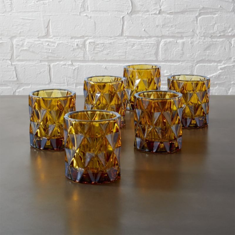 Set Of 6 Betty Tea Light Candle Holders Cb2