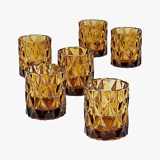 set of 6 betty tea light candle holders