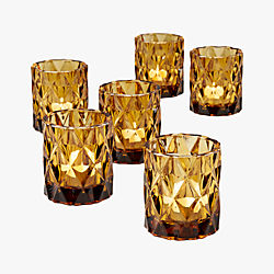 betty tea light candle holders set of six