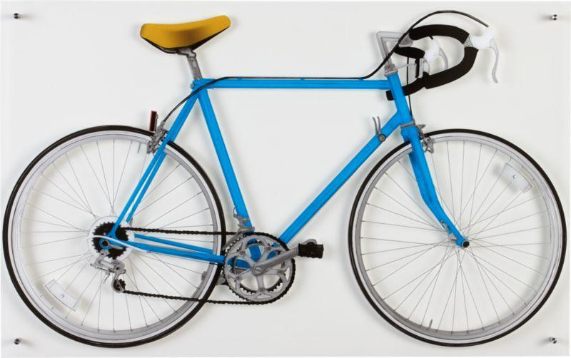 bicycle blue acrylic print