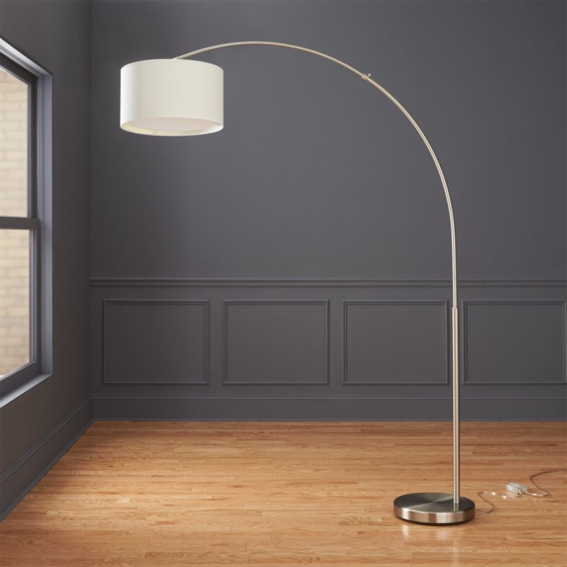Big Dipper Arc Brushed Nickel Floor Lamp Cb2