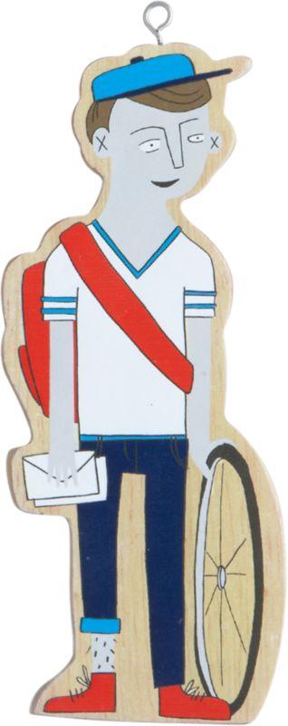 bike messenger ornament