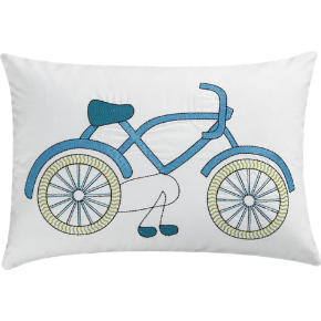 bike pillow shopping in CB2 pillows, throws