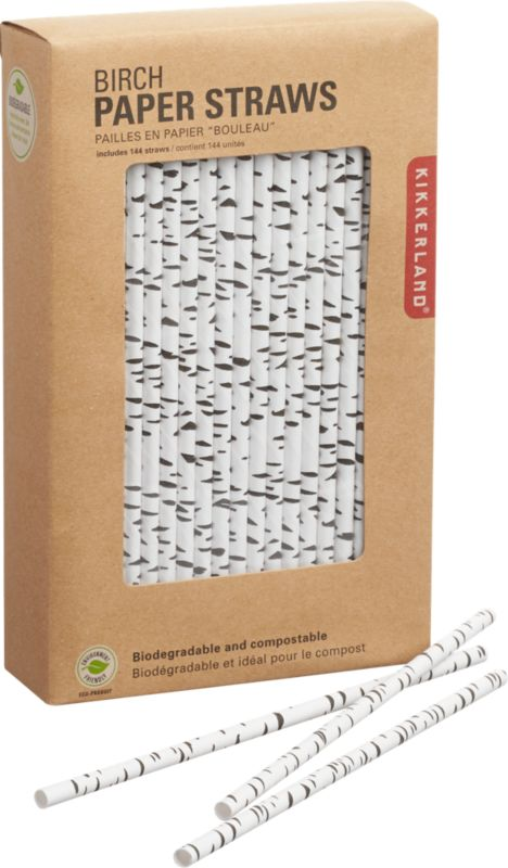 paper birch straws