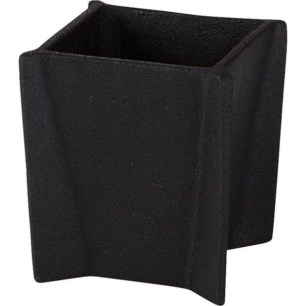 black cast pencil cup