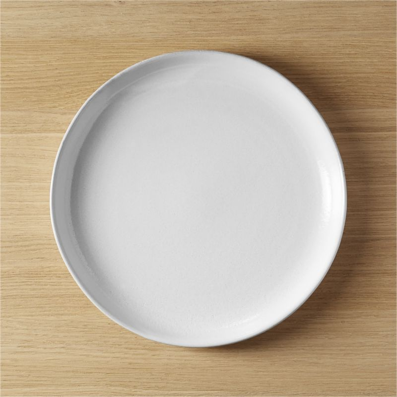 black clay dinner plate
