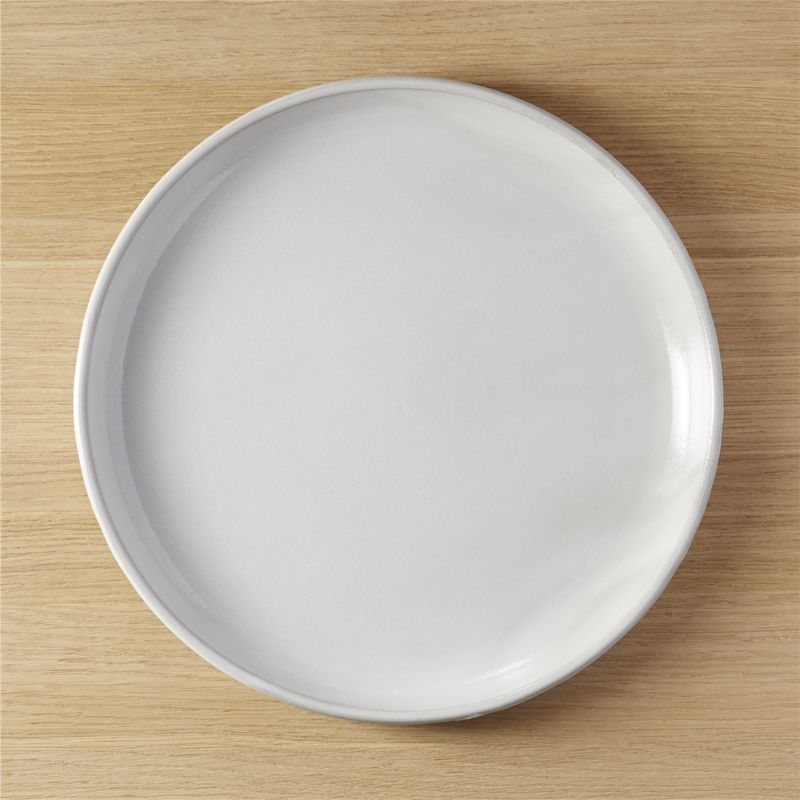 Black Clay Round Platter Cb2