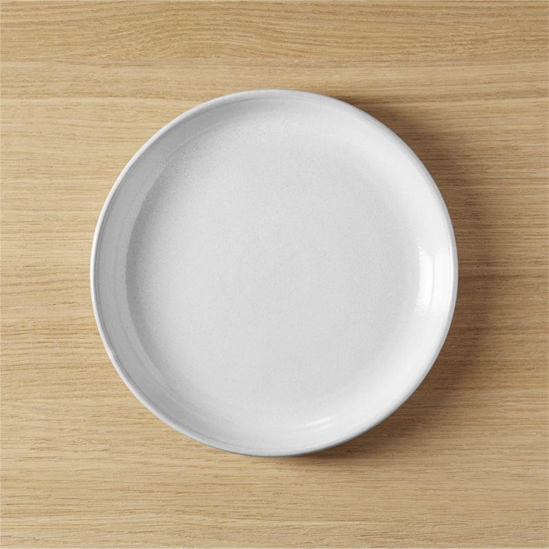 black clay salad plate