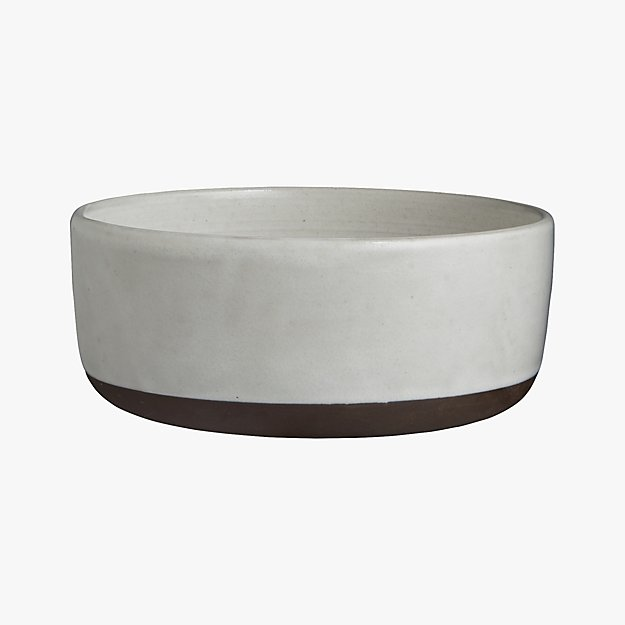 black clay serving bowl