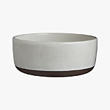 black clay serving bowl