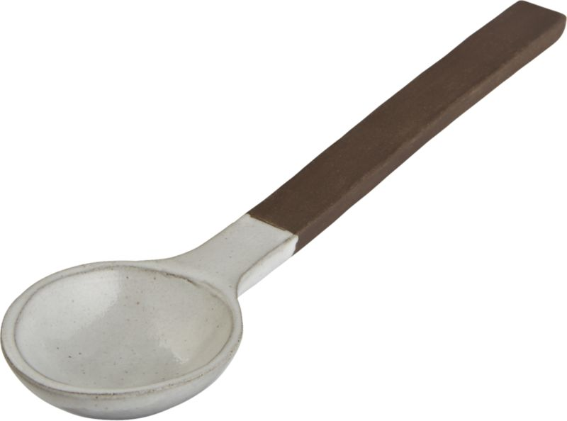 black clay spoon