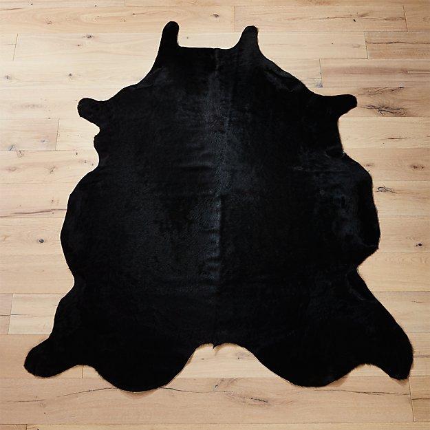 cowhide black rug 5'x8'