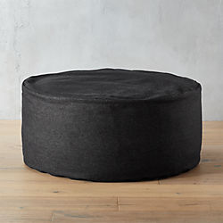 denim black pouf