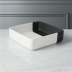 black dip serving bowl