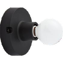 black flush mount lamp