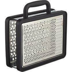black suitcase grater