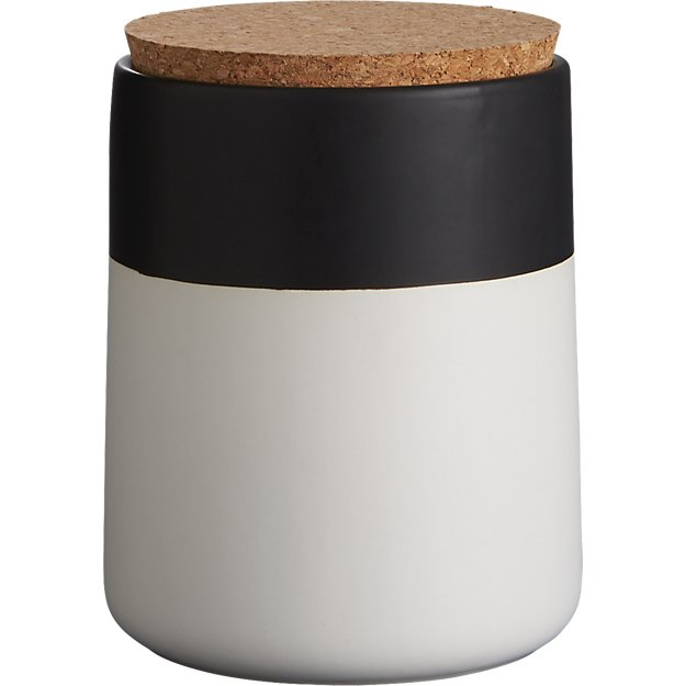 dip black and white small canister