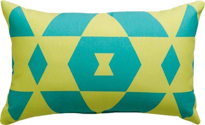 "bleu monday 20""x12"" outdoor pillow"