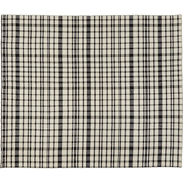 black and white check rug 8'x10'