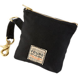 black waxed canvas multi pouch