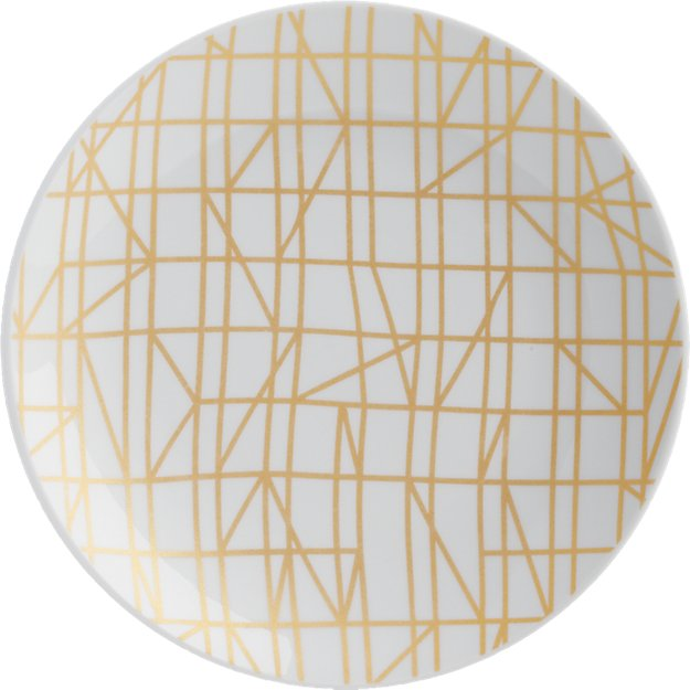 blocks gold appetizer plate