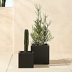 blox galvanized charcoal planters