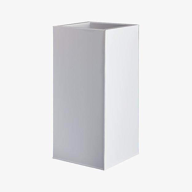 "blox 24"" tall galvanized high-gloss white planter"