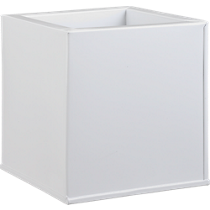 blox square galvanized high-gloss white planter