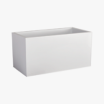"blox 24"" low galvanized high-gloss white planter"