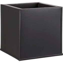 blox square galvanized charcoal planter