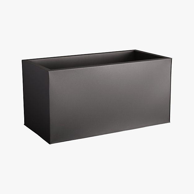"blox 24"" low galvanized charcoal planter"