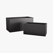 blox rectangular galvanized charcoal planters