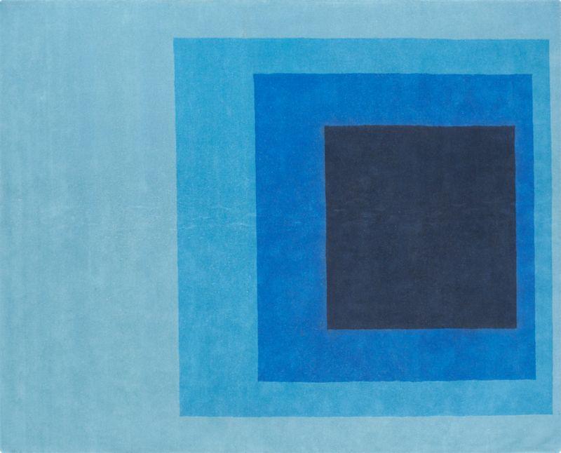 blue block rug 8'x10'