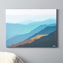blue ridged print