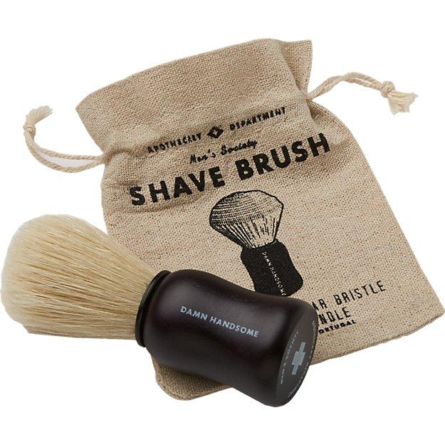 men's society boar bristle shave brush