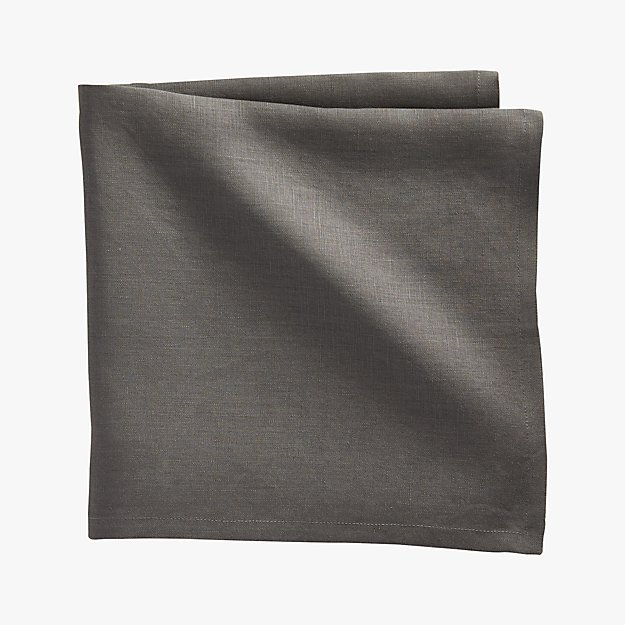 bolt grey linen napkin
