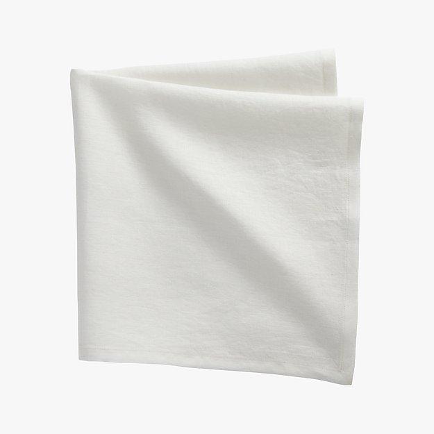 bolt white linen napkin