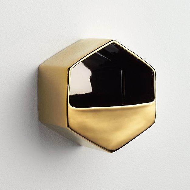 bolt gold wall vase