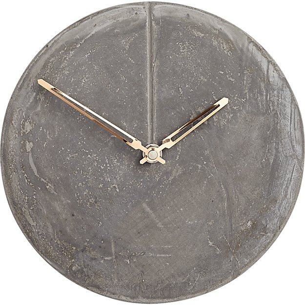 bonded cement wall clock