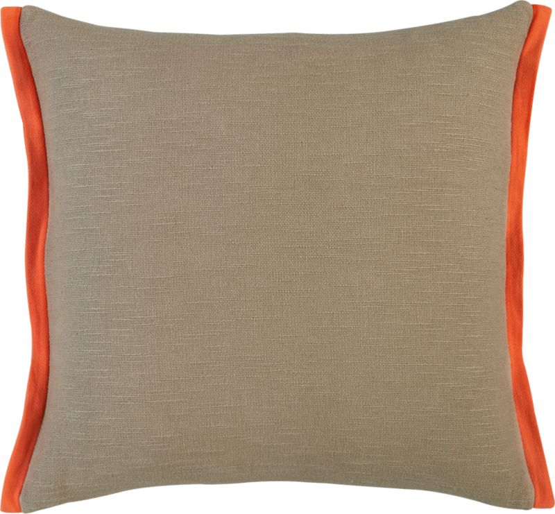 "boundary oat-orange 18"" pillow with down-alternative insert"