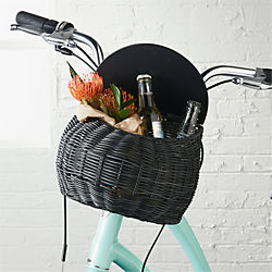 bow grey/black bike basket