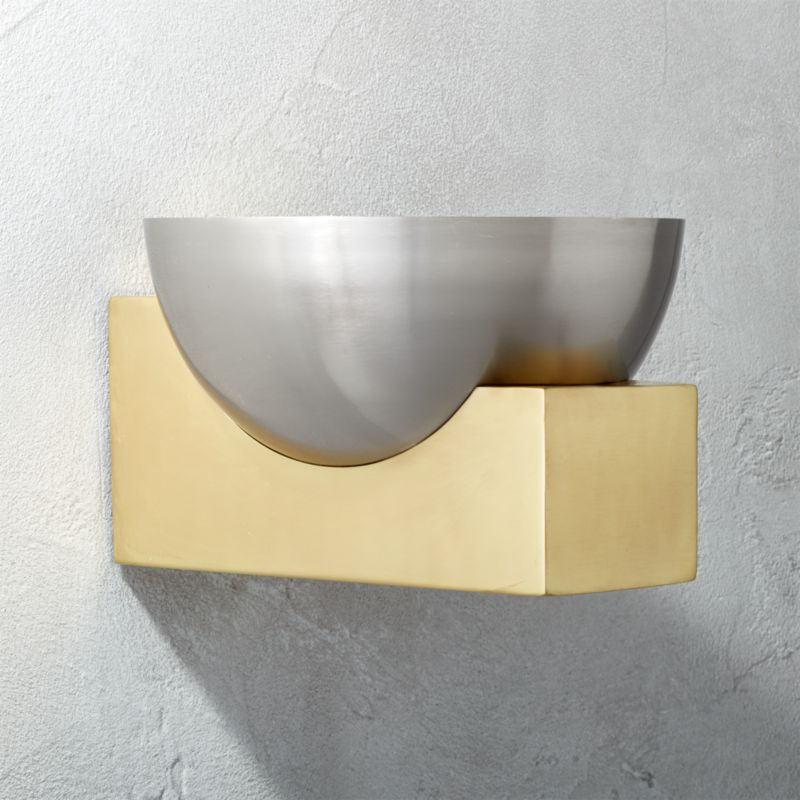 bowl wall sconce CB2