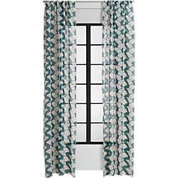 brady blue-green curtain panel