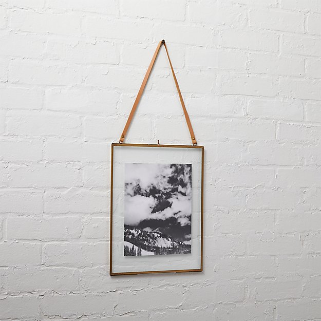 brass floating 8x10 picture frame
