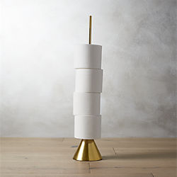 brass toilet paper storage tower
