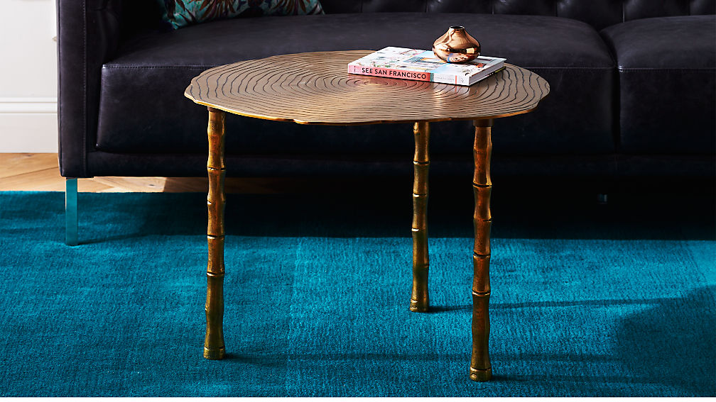 bronze bamboo bunching side table