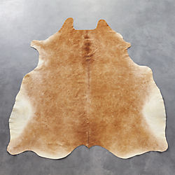 cowhide brown rug