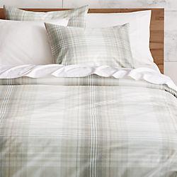 bruno plaid bed linens